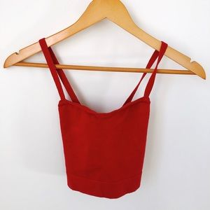 American Apparel Red Crop Top